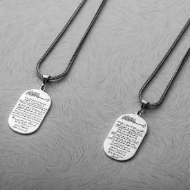 7 Ayet Sıkıntı Gideren Gümüş Madalyon Kolye