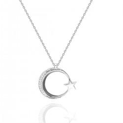 Ay Yıldız Gümüş Kolye