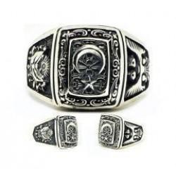 925 Ayar Gümüş Devlet Bahçeli Yüzüğü