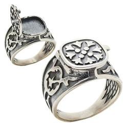 925 Ayar Gümüş Kapaklı Deli Yürek Yüzüğü