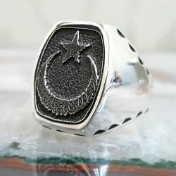 925 Ayar Gümüş Ayyıldız Model Yüzük