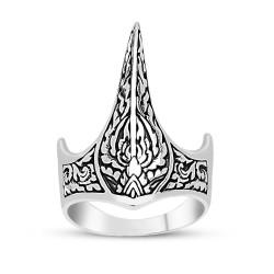 925 Ayar Gümüş Özel Tasarım Okçu Zihgir Yüzüğü